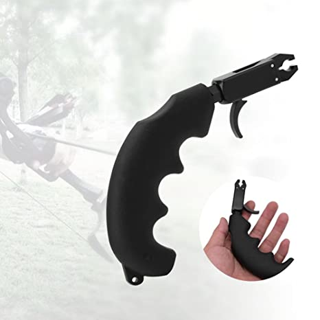 T-best 360° Durable Archery Handle Thumb Caliper Bow Arrow Release Grip for  Compound Bow Archery Release Aid degree swivel mounted caliper head