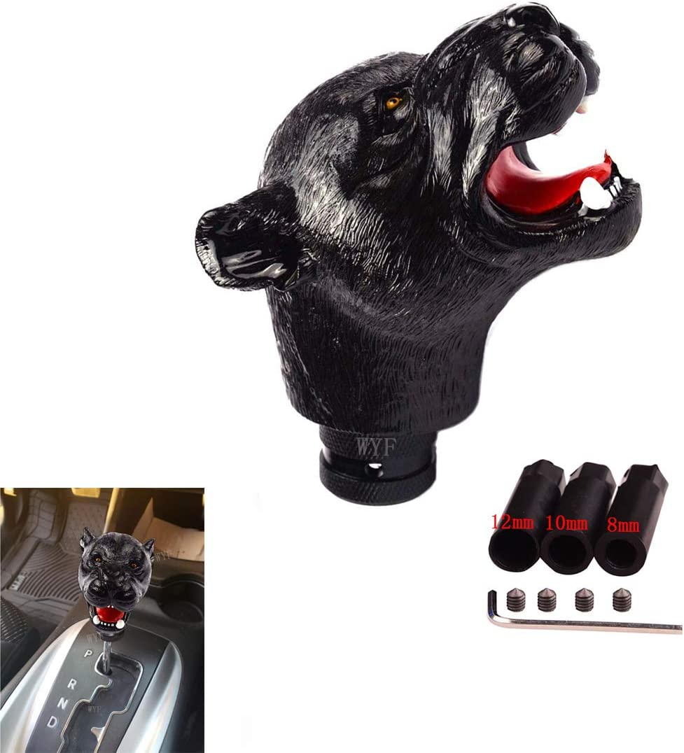 WYF Yellow Dog Head Gear Stick Shift Shifter Knob Lever Cover Universal Fit for Car Manual Transmission and Automatic Transmission Without Lock Button