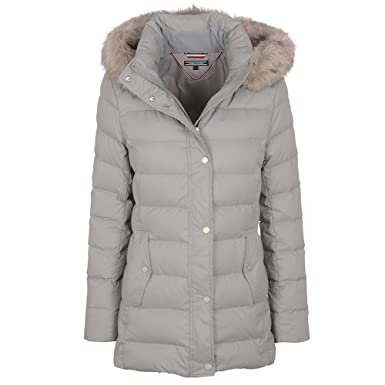 a1ba7ddd Tommy Hilfiger Tyra Down Jacket in Grey: Amazon.co.uk: Clothing