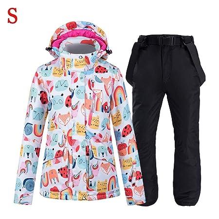 Peitten Chaqueta y Pantalones de esquí para Mujer Traje de esquí ...