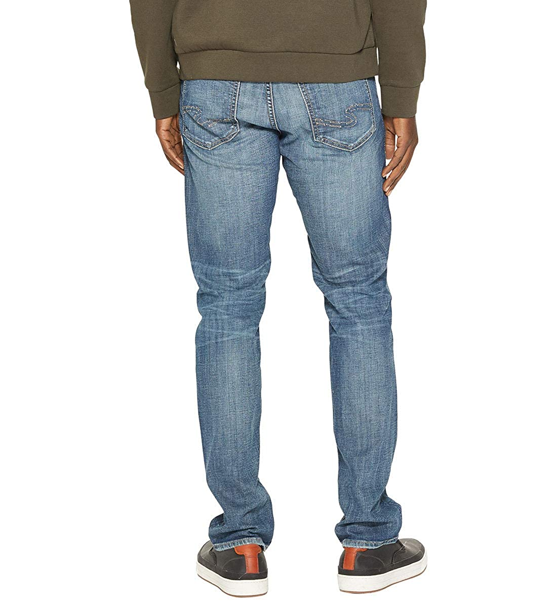 Mens Konrad Slim Jeans Silver Jeans Co