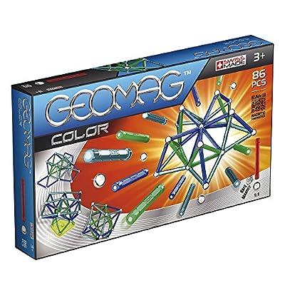 Geomag 254 Sistema Di Costruzione Magnetico Classic Color Con 86 Pezzi