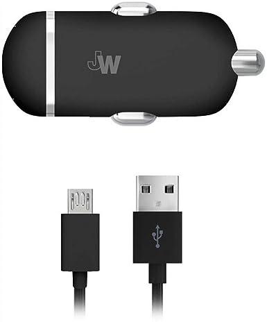 Amazon.com: JW - Cargador de coche con puerto USB (cable ...