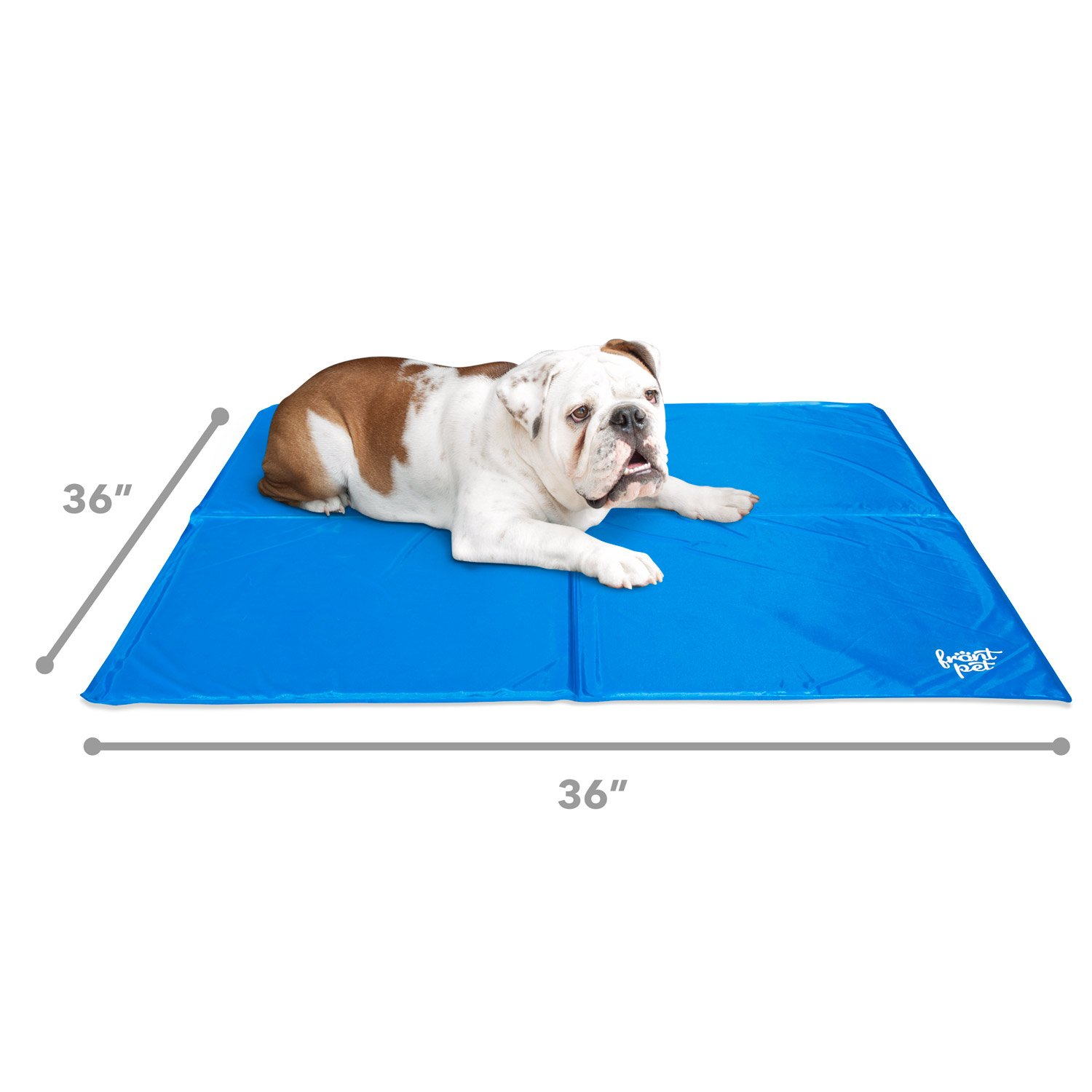 FrontPet Dog Cooling Pad With Self Cooling Technology! Foldable Extra Large 36 x 36 With Easy to Clean Surface! Great Pet Cooling Mat For All Sizes And Breeds!