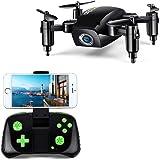 LBLA RC Mini Drone pieghevole, regalo Drone per bambini / adulti, giroscopio a 6 assi con Altitude Hold Telecomando Quadcopter HD WiFi Telecamera FPV 2.4 Ghz, 8 minuti di volo