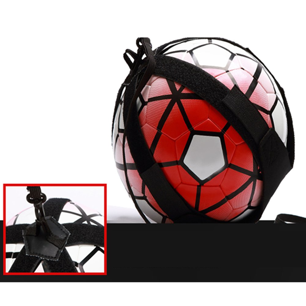 Football Kick Trainer Soccer Ball Practic assistance dentra/înement r/églable Sports Football Trainer Practise Ceinture free size Noir