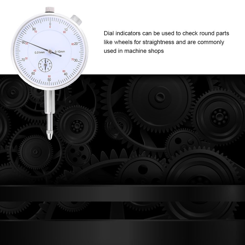 Range 0~10mm Accuracy 0.01mm Dial Indicator Measuring Gauge High Precision Instrument Tool