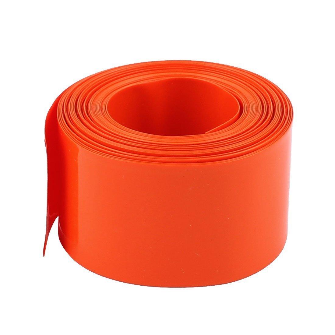 sourcingmap 18.5mm di diametro 5 m di lunghezza PVC Tubo termorestringente tubo Rivestito della batteria di colore arancione sourcing map a16083100ux0346