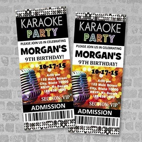 Amazon karaoke birthday party ticket invitation custom karaoke karaoke birthday party ticket invitation custom karaoke party ticket invites matte finish stopboris Image collections