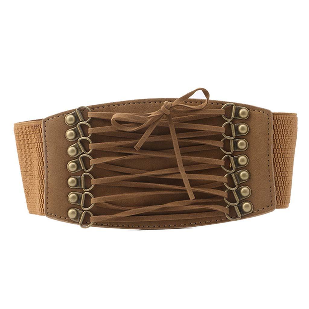 Boho Belt Elastic Retro Cinch Belt Waist Belt Yumian Lace-up Corset