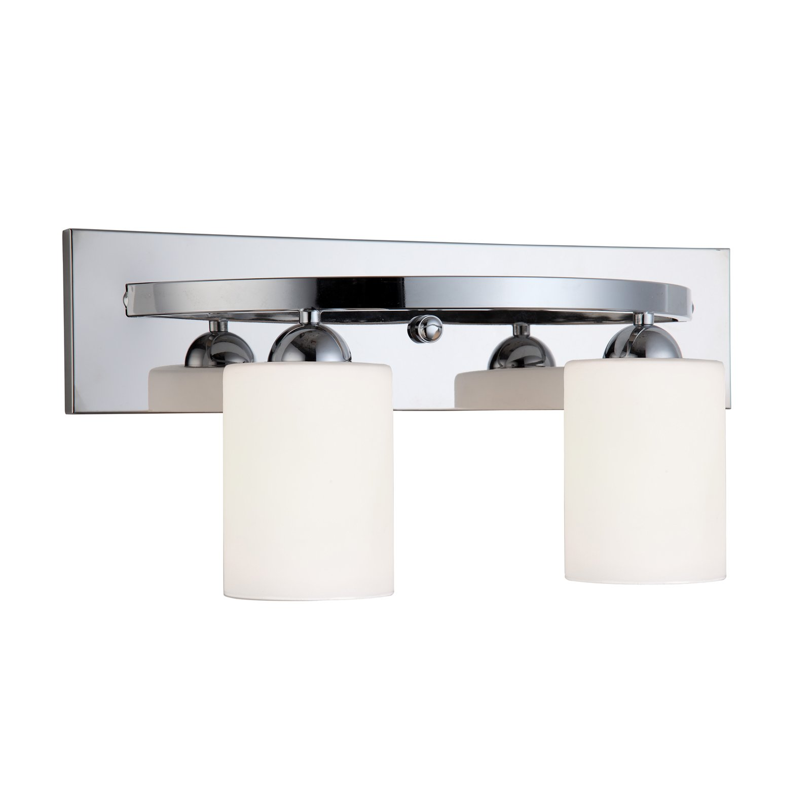 Chrome 2 Globe Vanity Bath Light Bar Interior Lighting Fixture by HowPlumb (Image #2)