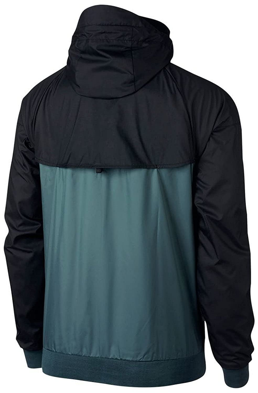 fe230a7fea53 Men s Nike Sportswear Windrunner Jacket Iced Jade Black Black White - -   Amazon.co.uk  Clothing
