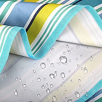SHENGHE Picnic Blanket Outdoor Beach Mat - Beach Rug for Outdoor Water Resistant Handy Mat Tote Blue Stripe Great for The Beach Camping on Grass Waterproof Sandproof : Garden & Outdoor