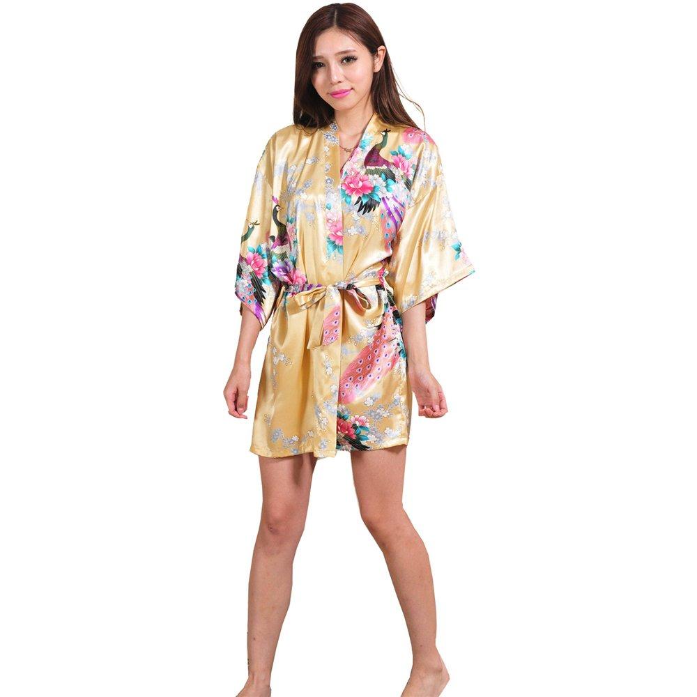 reputable site b4529 c032a preiswerte ALJL Schlafen Robe Silk Frauen Satin Kimono ...