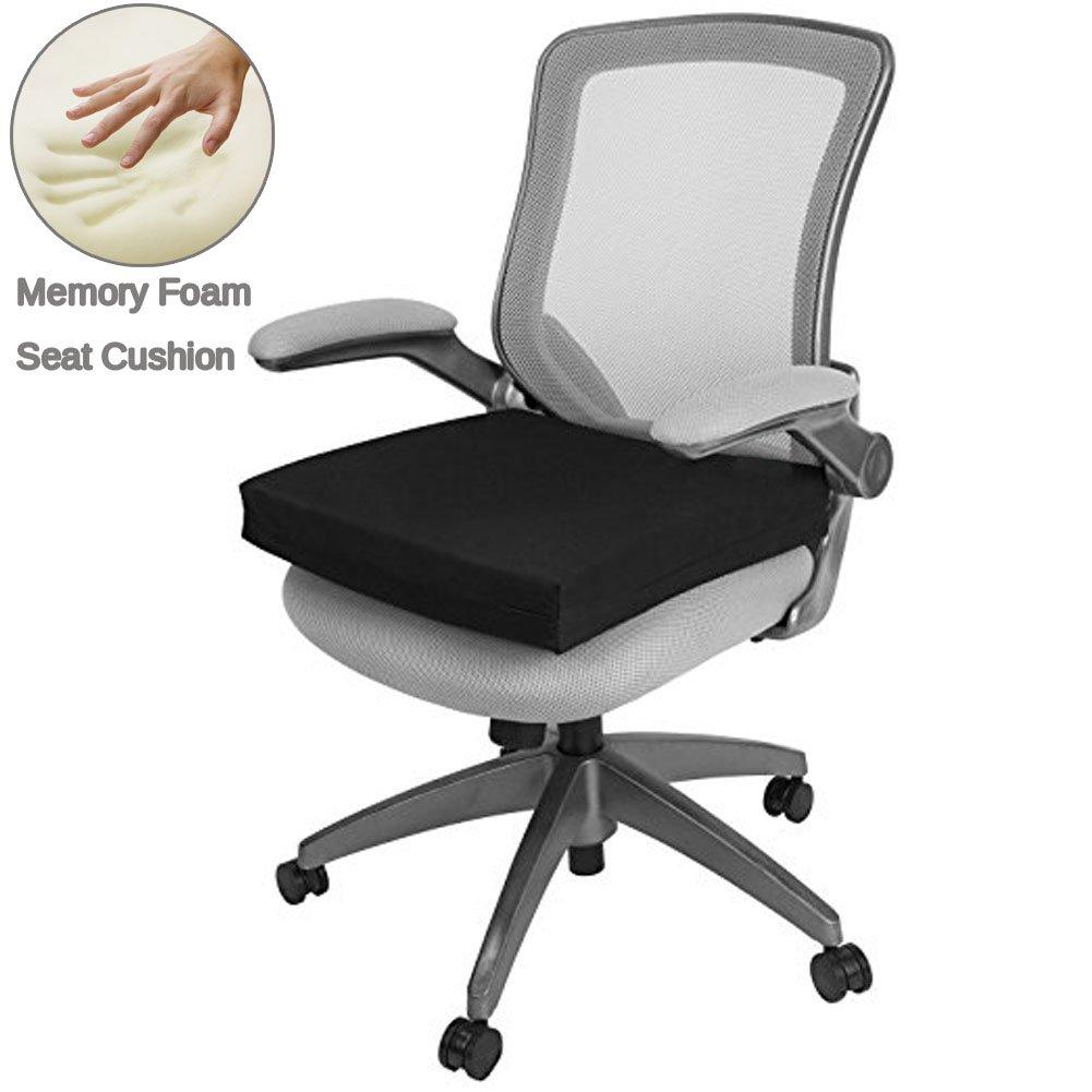 Big Hippo Seat Cushion Back, Sciatica Tailbone Pain Relief-Memory Foam Chair Seat Cushion Pad Wheelchair, Office & Car