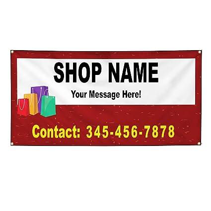 Cartel de vinilo personalizado, varios tamaños, nombre de la ...