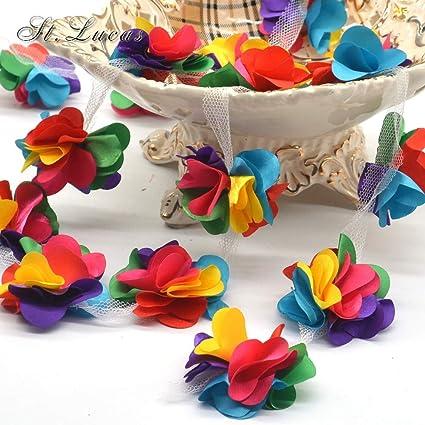ee560ba325c6d Amazon.com: Lace Crafts - New Fashion 24pcs/lot Colorful 3D Chiffon ...