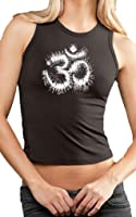 Yoga Clothing For You Ladies Tie Dye OM Cropped Tank Top