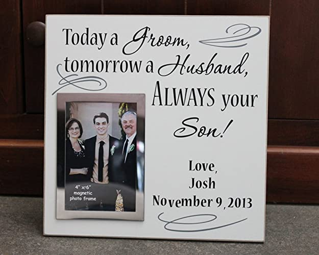 Amazon.com: 12x12, Today a groom picture frame, tomorrow a husband ...