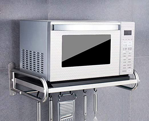 304 acero inoxidable estante para microondas/estantes de cocina ...