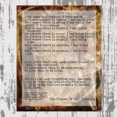 Prayer of St. Francis ~ The Eleventh Step Prayer ~ Personalized Artwork by Polly PRB with Your Custom Message