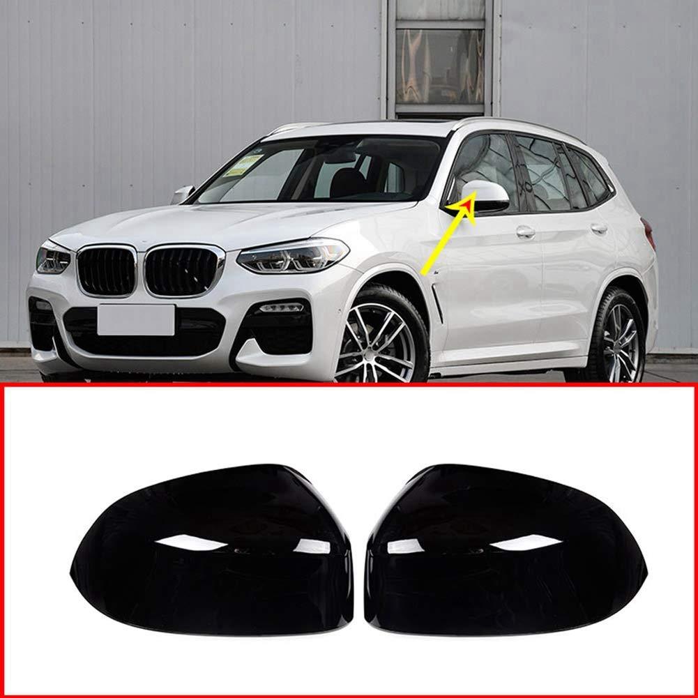 Auto Auto Zubeh/ör f/ür X3 X4 G01 G02 2018 2019 Seitenspiegel Abdeckung Abdeckung ABS Kunststoff gl/änzend schwarz 2 St/ück//Set