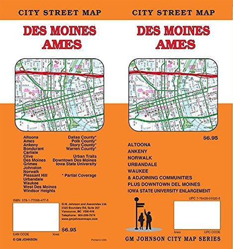Des Moines / Ames, Iowa Street Map (Iowa Map)