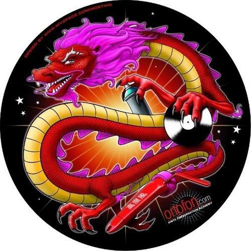 Ortofon SM-13 Chinese Dragon Slipmats, Pair