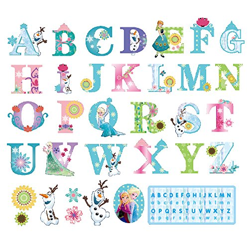 Alphabet Background - Winhappyhome Kindergarten Early Education Learning English Alphabet Paste Wall Art Stickers for Kids Room Nursery Background Removable Decor Decals