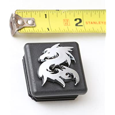 "LFPartS 3D Emblem Trailer Hitch Cover Tube Plug Insert (Fits 1.25"" Receivers, Dragon): Automotive"
