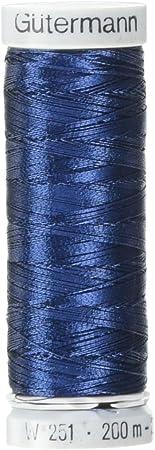 Gutermann Dekor Metallic Polyester Embroidery Thread 200m//219 yd Black