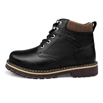 Botas De Cuero Para Hombres Con Cordones Botas Altas Botas Altas Para El Tobillo Botas Moteras