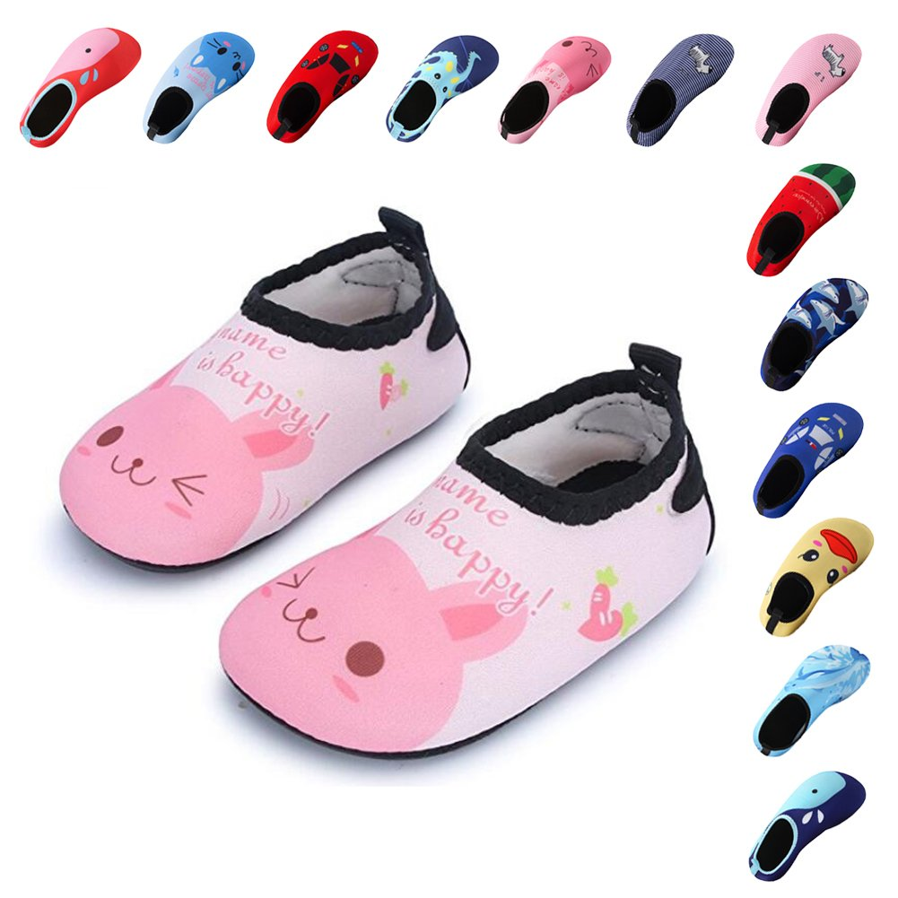 f23041b07576 Lauwodun Baby Boys Girls Water Shoes Barefoot Aqua Sock Shoes for Beach  Pool Yoga Swimming Walking