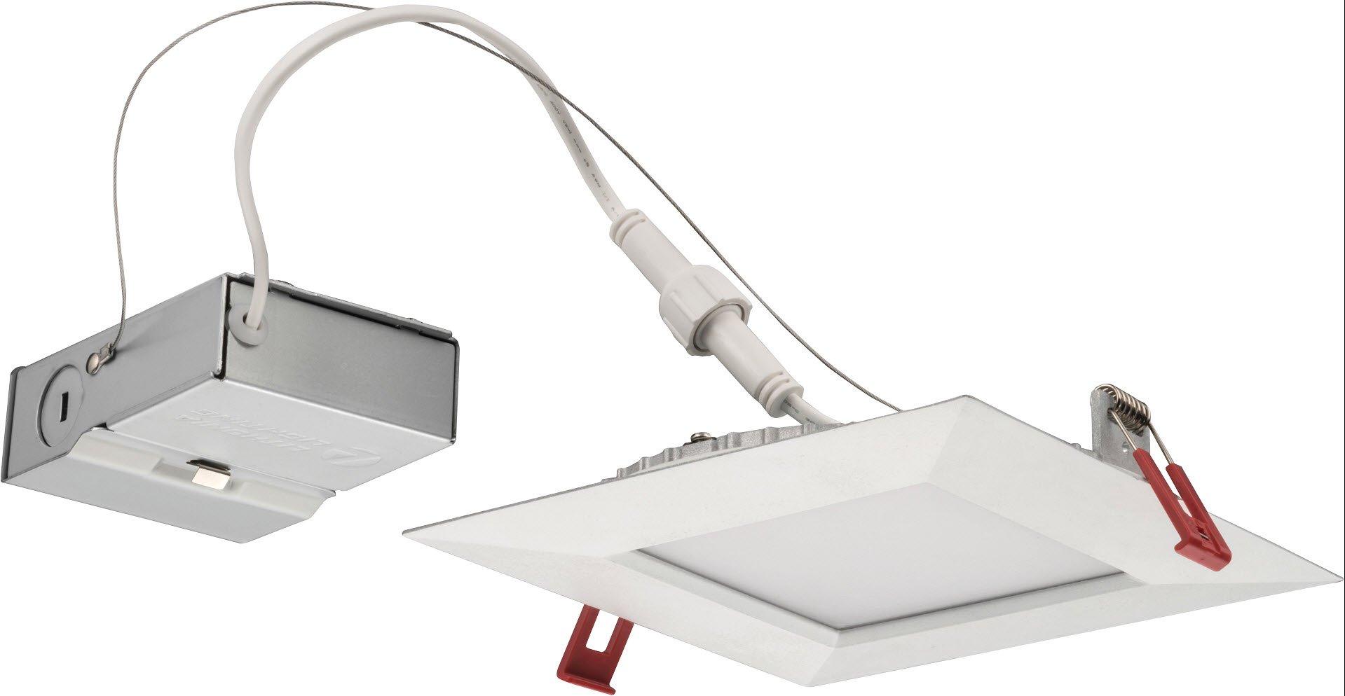 Lithonia Lighting WF6 SQ S LED 30K MW M6 Ultra-Thin Square LED Recessed Ceiling Light, 3000K | Bright White, Matte White