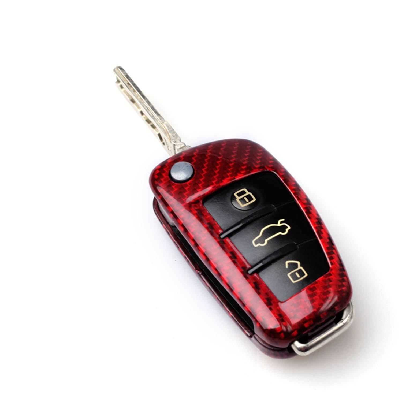 Amazon.com: 100% de fibra de carbono carcasa para Audi ...