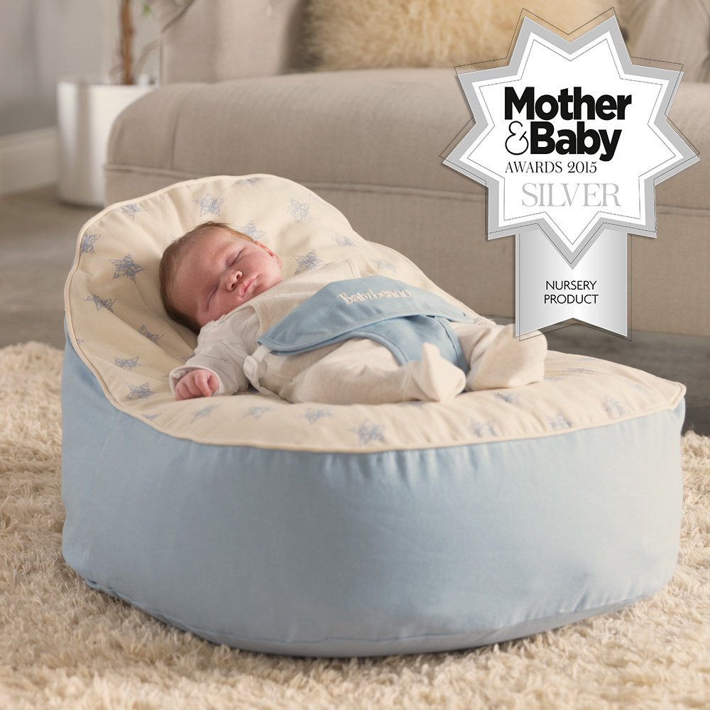 Bambeano® Baby Sitzsack - Blau – Inklusive kostenlosem 'Toddler Bean Bag' Bezug
