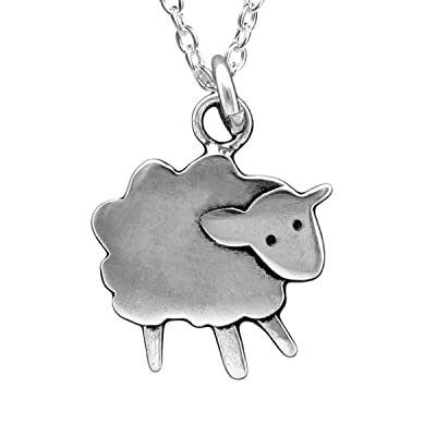 Sterling Silver Sheep Necklace on !8