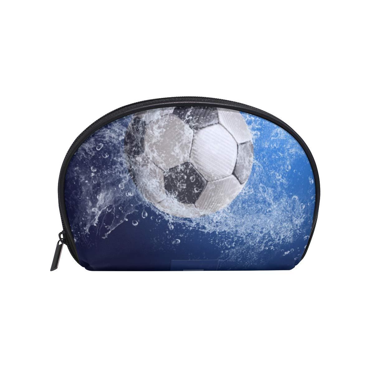 Neceser de maquillaje con diseño de balón de fútbol con cremallera ...