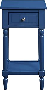 Convenience Concepts French Country Khloe Accent Table, Cobalt Blue
