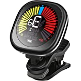 LEKATO Rechargeable Guitar Tuner Clip On LED Color Display Tuner for All Instruments - Guitar, Violin, Ukulele…