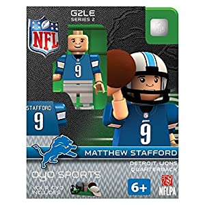 nfl oyo sports detroit lions matthew stafford series 2 minifigure toys games. Black Bedroom Furniture Sets. Home Design Ideas