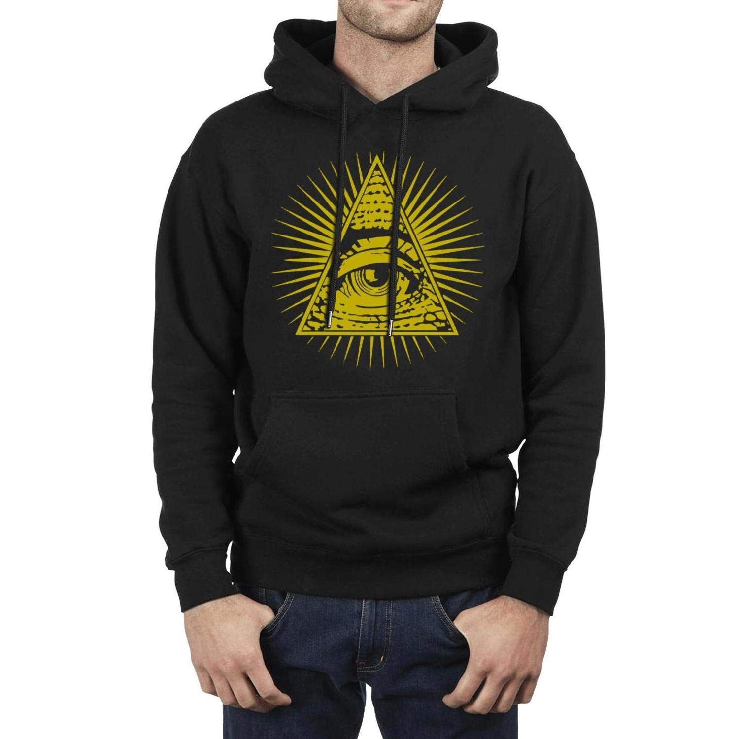 YJRTISF Pockets Winter Classic Fleece Hoodie for Mens