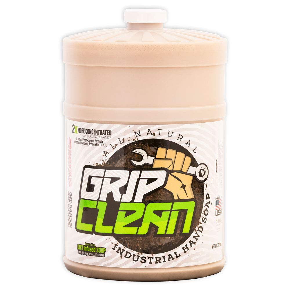 Grip Clean | Dirt Infused Heavy Duty Hand Cleaner - All Natural (1 gal Refill jug) by Grip Clean (Image #1)