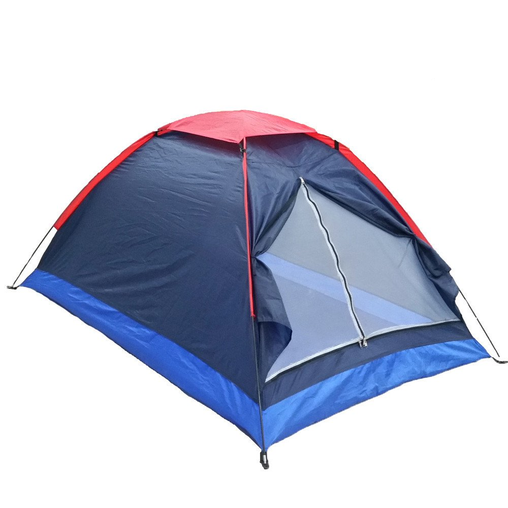 RFVBNM 2 Personen Camping Zelt Single Layer Beach Zelt Outdoor Reisen winddicht wasserdicht Markise Zelt Sommerzelt mit Tasche