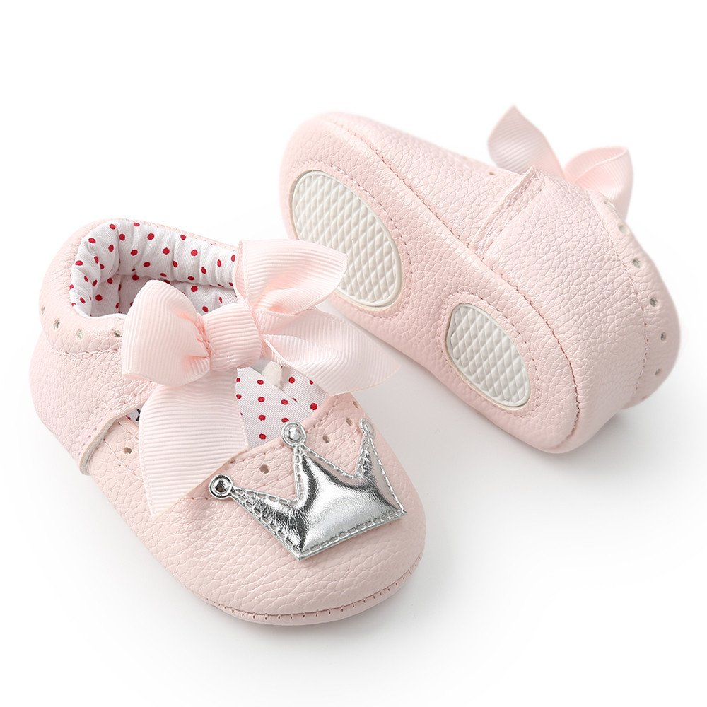 Lurryly Newborn Infant Baby Girl Crown Princess Shoes Soft Sole Anti-Slip Sneakers 2019Clearance
