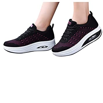 Damen Sportschuhe Keilabsatz Laufschuhe Plattform Sneakers