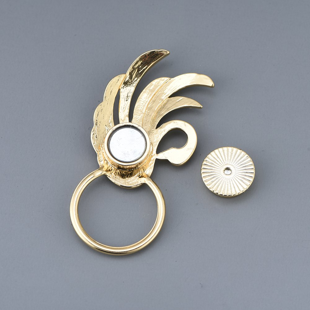 RUXIANG Swan Bird Magnetic Eyeglasses Holder Brooch Pin Jewelry for Women Girls (Gold) by RUXIANG (Image #5)