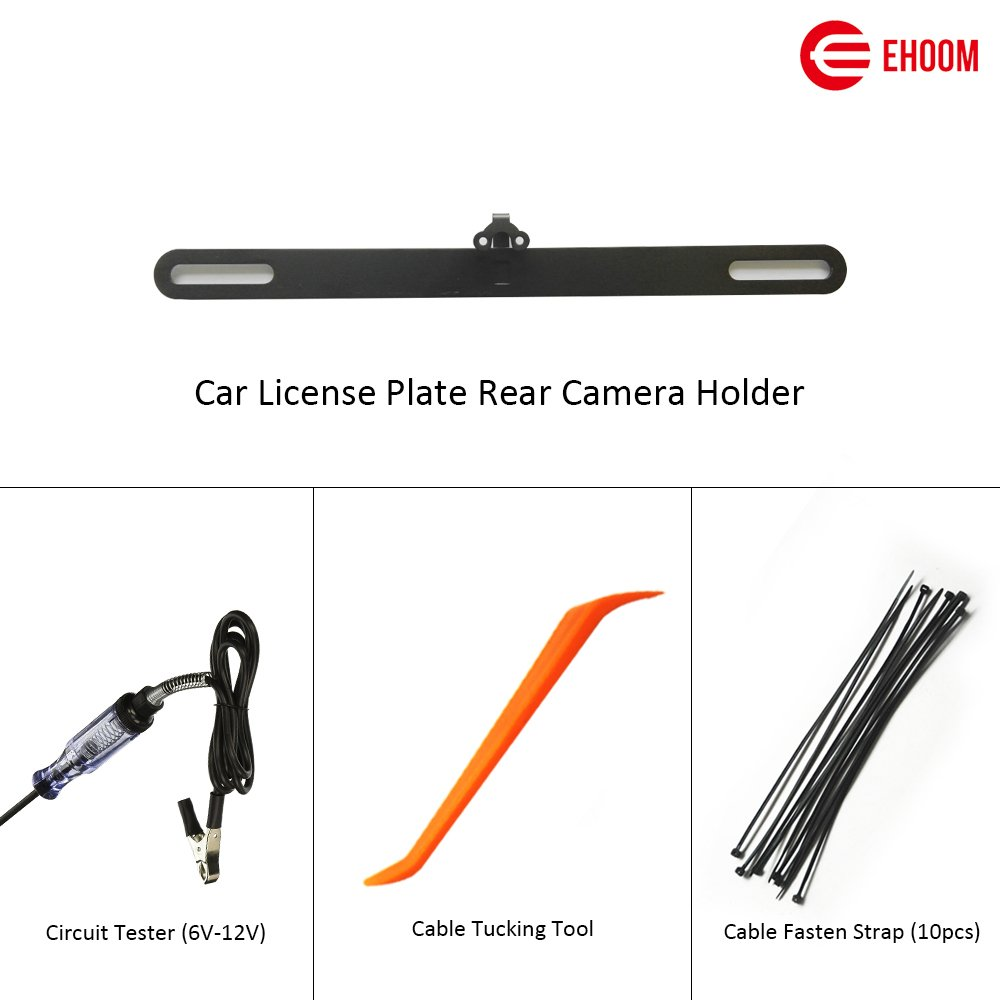 EHOOM A10 Installation Tool Set, 6V/12V Circuit Tester, Cable Tucking Tool, License Plate Rear Camera Holder and Cable Fastening Straps Included in the Package by EHOOM (Image #1)