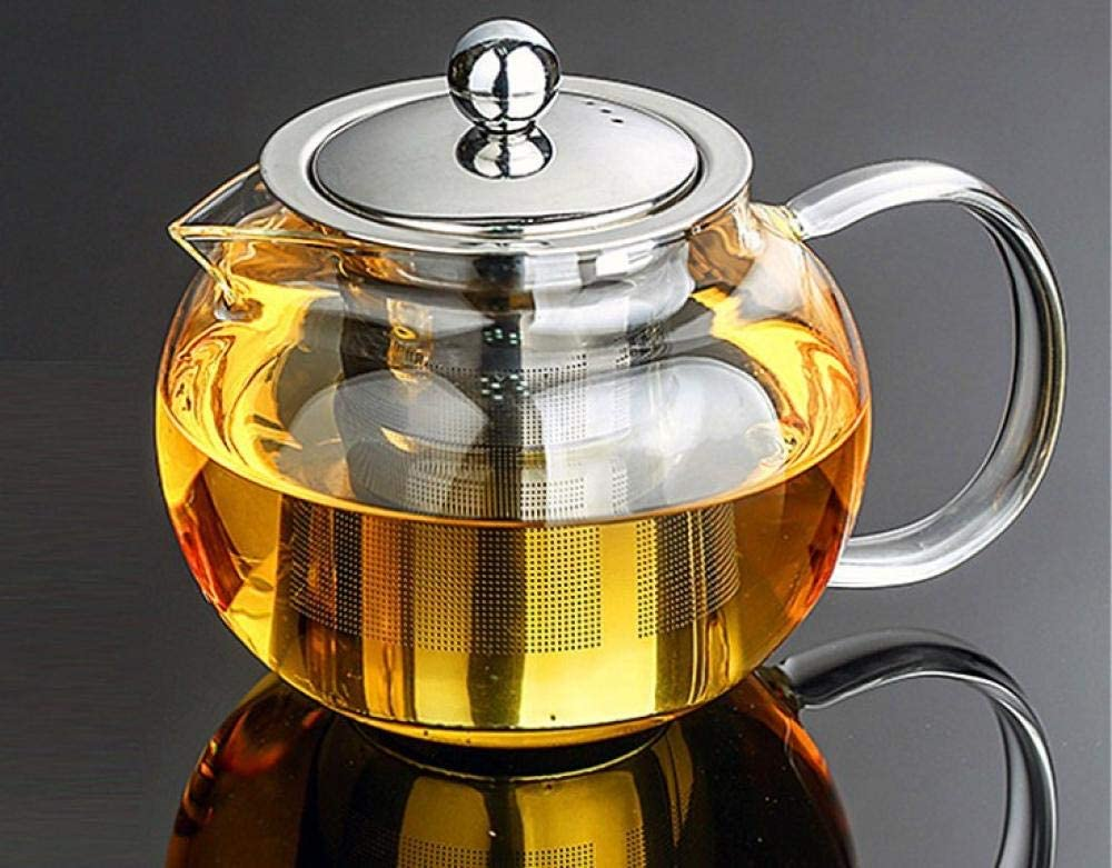 Tetera de vidrio Tetera De Vidrio Teteras 1PC 350ml 500ml 800ml 950ml 1300ml Hot Selling  Drinkware Teapot Glass Tea Pot Tea Set with Stainless Steel Infuser-800ml