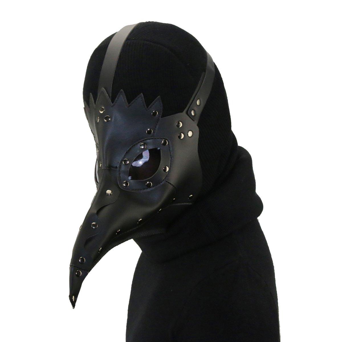 mascara pajaro gotico cuero